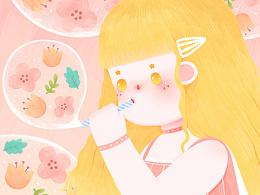 原创插画《女孩》系列
