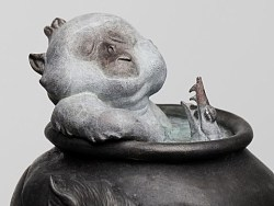 末那x早稻丨末匠系列之《阿乙汤浴》铸铜雕像