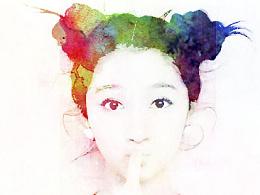百图斩P4-《欢乐颂》海报风格临摹