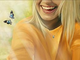 阳光下的微笑