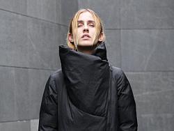 黑调(花树果原创女装2016冬季新灰色创意黑色立领羽绒服)