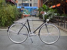 tsunami复古自行车——黑色