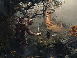 石碑巨人系列插图
