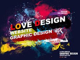 LoveDesign公司海报、名片、网站设计
