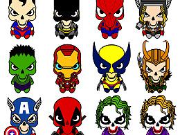 受邀设计美国潮牌MIRACLE KILL美国漫画英雄系列主题产品
