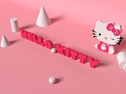 C4D练习--HELLO KITTY
