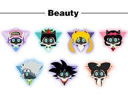 原创猫咪头像--beauty