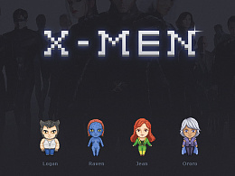 像素画小练习——Xmen!