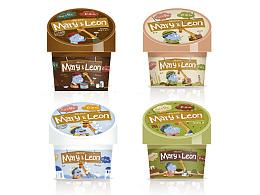 Mary&Leon 意大利冰淇淋包装插画
