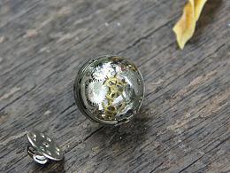 原创设计 蒸汽朋克立体树脂表芯领带插针 衬衣领插针 西装领插针