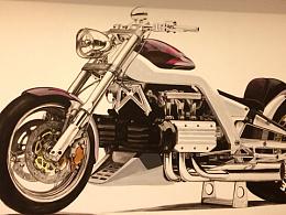 墙绘写实3D立体摩托^_^
