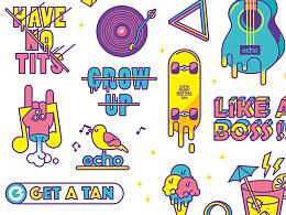 echo music festival 2016 贴纸