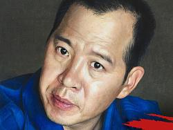 应官方邀请画了一组无人机飞行员李浩的写实 by 春枫画语