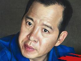 应官方邀请画了一组无人机飞行员李浩的写实