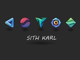 渐变几何logo教程