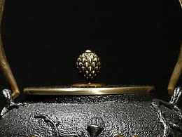 沐焱堂 傲梅铁壶 铸铁 鎏金无涂层纯铁煮茶壶 养生茶壶出口日本