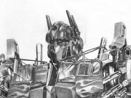 铅笔画——擎天柱
