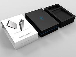 一款智能微型投影仪的包装盒简易效果