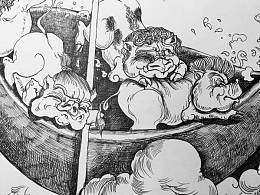 一风作品《中国童话》插画