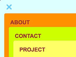 用 Axure 8 实现「卡片式概念菜单效果」