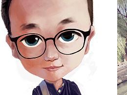 戴眼镜的小伙儿