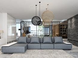 布艺沙发-3D效果图