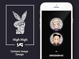 GD&TOP卡通头像创作+手机壁纸