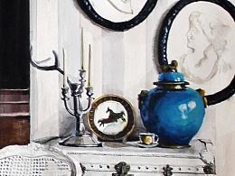 都有一點藍 #室內設計與空間表達 #小場景慢表