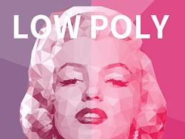 LOW POLY_Marilyn Monroe
