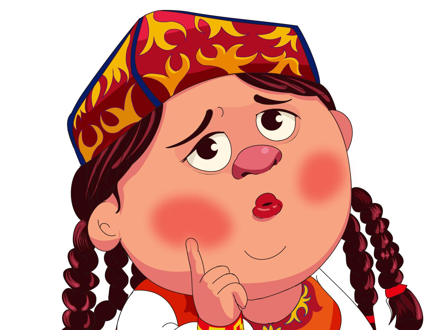 维吾尔族卡通人形象设计