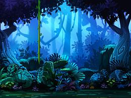 丛林背景及元素