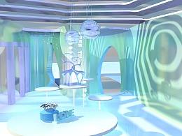 C4D少女风室内设计