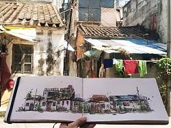 广州-海珠-聚龙大街  采风写生
