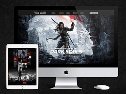 Web Design of The Tomb Raider