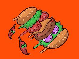 汉堡与辣椒更配哦