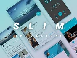 SILM健身app界面banner设计 安卓原生风格设计 原创