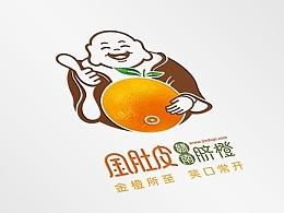 金肚皮赣南脐橙标志设计