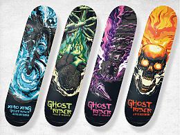 《恶灵骑士》系列滑板设计