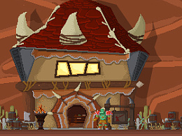 像素画-魔兽世界:奥格瑞玛的角落(未完)