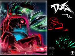 DOTA(屠夫vs影魔)