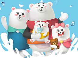 美的空调熊一家设计方案
