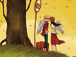 天朝羽最新作品《也许已是许多年》绘本+涂色笔记书温暖上市