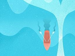 海报背景 哎哟我的少女心 罗雨舒插画