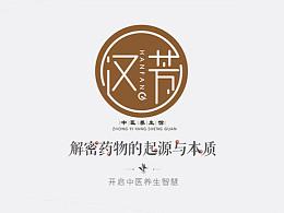 汉芳中医馆标志及VI设计
