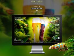 啤酒修图调色合成海报