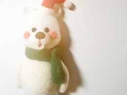 羊毛毡圣诞小熊