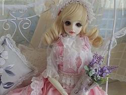 【 嘉儿GAIL手工工坊】bjd娃娃Lolita洋装:粉红少女