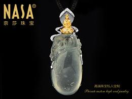 奈莎NASA珠宝原创设计引领东方文化艺术珠宝新格度作品《福慧双修》