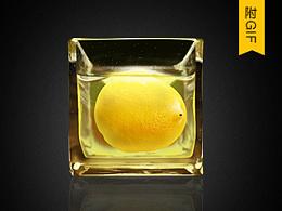 泡水中的柠檬 写实icon 图标临摹【附步骤图】