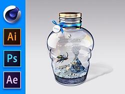 瓶中境-多软件合成教程
